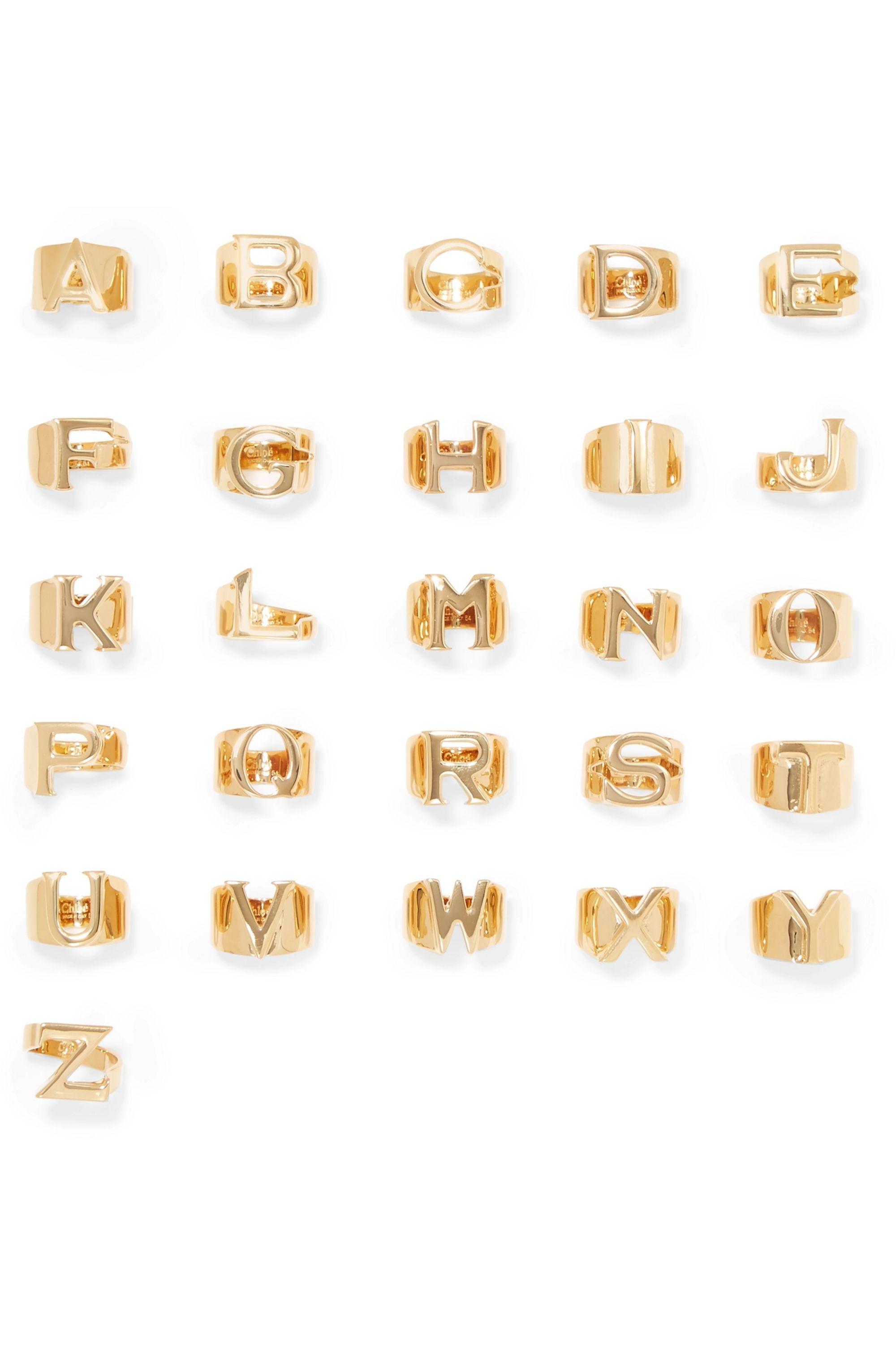 Chloé Alphabet goldfarbener Ring