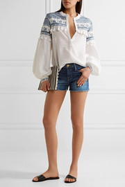 FRAME Le Cutoff stretch-denim shorts