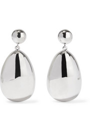 Egg silver earrings