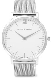 Larsson & Jennings Lugano silver-plated watch