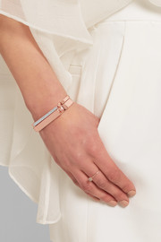 Monica Vinader Signature rose gold-plated diamond bracelet