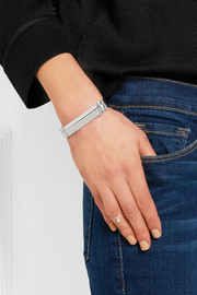 Monica Vinader Signature sterling silver diamond bracelet