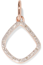 Riva Kite rose gold vermeil diamond pendant
