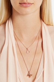 Monica Vinader Riva Kite rose gold vermeil diamond pendant
