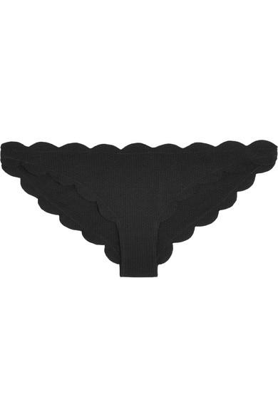 Marysia - Antibes Scalloped Bikini Briefs - Black