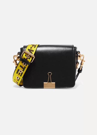 Off-White | Leather shoulder bag | NET-A-PORTER.COM