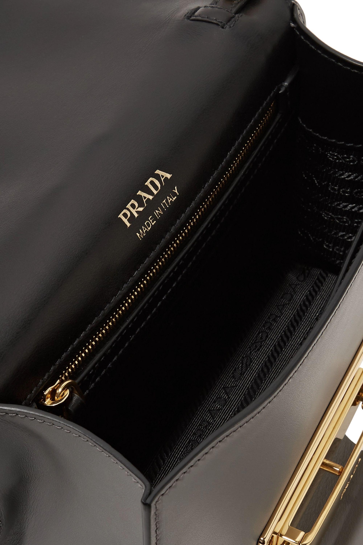 Prada Metal Ribbon color-block leather shoulder bag