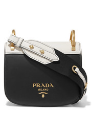 Prada Pionnière two-tone leather shoulder bag