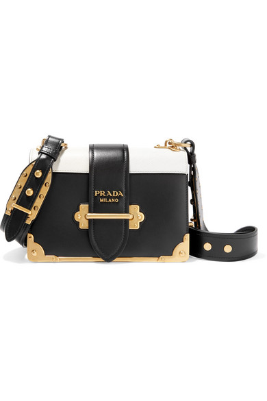 7137cc2fe704 Prada. Cahier small two-tone leather shoulder bag