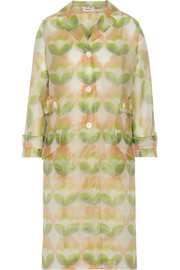 Miu Miu Printed vinyl trench coat