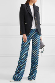 Miu Miu Wool and silk-blend blazer