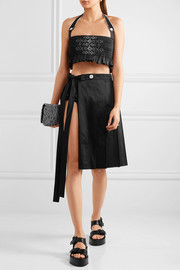 Miu Miu Pleated cotton skirt