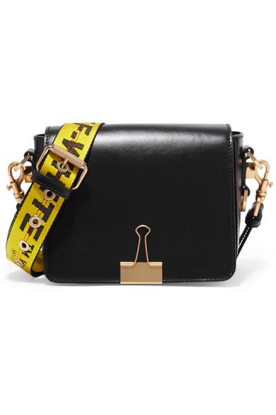 Off-White - Leather Shoulder Bag - Black
