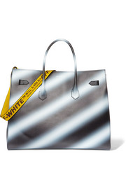 Off-White Extra large printed textured-leather tote