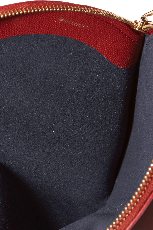 Roksanda Circle textured-leather pouch
