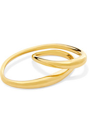 Charlotte Chesnais Heart gold-dipped two-finger ring