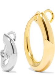 Charlotte Chesnais Monie gold-dipped and silver clip earrings