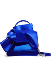 Knot satin shoulder bag