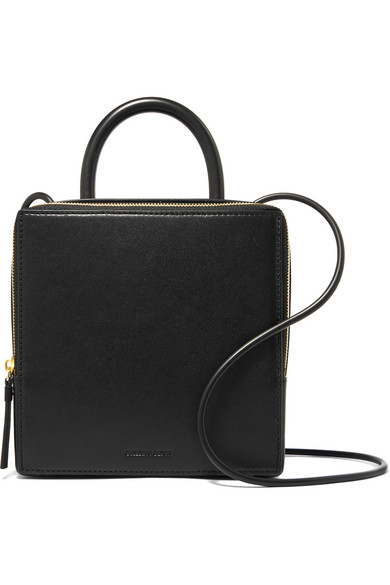 Box leather shoulder bag