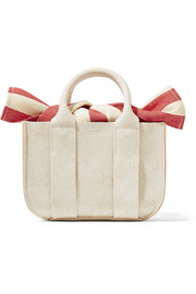 Gilbert micro textured-leather and cotton-canvas tote
