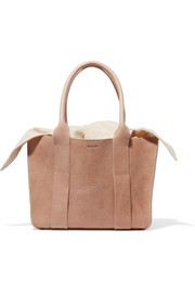 Muun Gilbert mini textured-leather and cotton-canvas tote