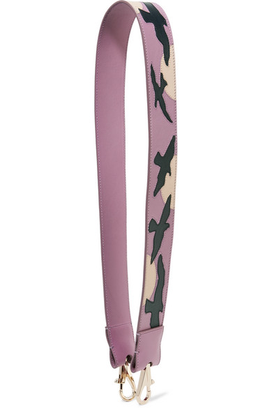 tina craig for gianfranco lotti female 243279 tina craig for gianfranco lotti seagull appliqued leather bag strap pink