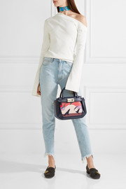 The Galaga small paneled leather tote