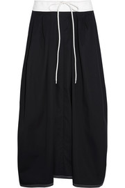 Chloé Two-tone cotton-twill midi skirt