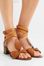 Chloé EXCLUSIVE Bow-detailed embellished leather sandals