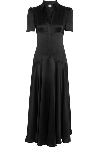 Hillier Bartley - Plimpton Silk-satin Dress - Black