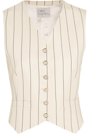 Hillier Bartley Pinstriped wool-twill and silk-taffeta vest