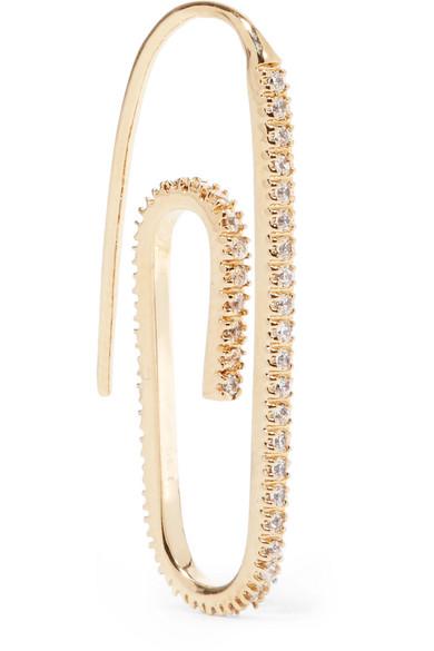 Hillier Bartley - Gold-plated Swarovski Crystal Earring
