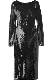 TOM FORD Open-back sequined satin dress