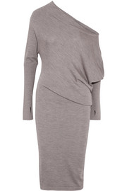 TOM FORD Off-the-shoulder cashmere and silk-blend midi dress