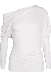 TOM FORD One-shoulder cashmere and silk sweater