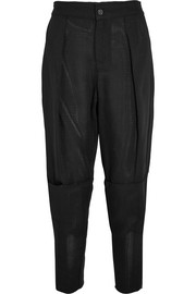 TOM FORD Cropped piqué tapered pants