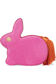 Hillier Bartley Bunny calf hair and leather clutch