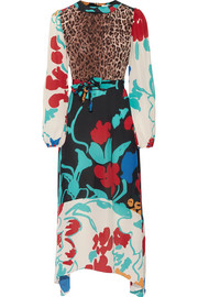Penelope printed silk midi dress