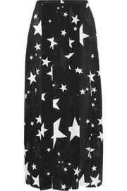 RIXO London Georgia pleated printed silk midi skirt
