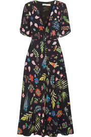 RIXO London Gwyneth printed crepe midi dress