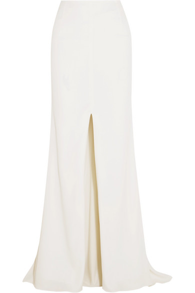 RIME ARODAKY Camila Split-Front Crepe Maxi Skirt in White