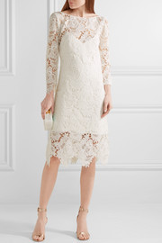 Parati guipure lace midi dress
