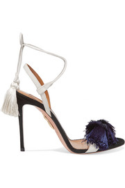 + Johanna Ortiz tasseled two-tone suede sandals