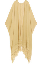 Yun Caax fringed cotton-gauze kaftan