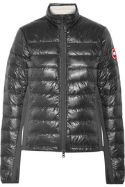 Hybridge Lite jersey-paneled quilted shell down jacket