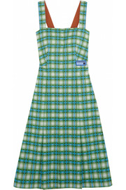Prada Plaid stretch-knit dress