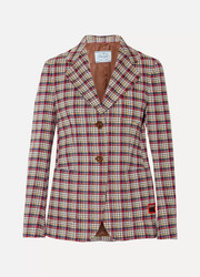 Plaid jacquard blazer