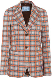 Prada Checked jacquard-knit blazer