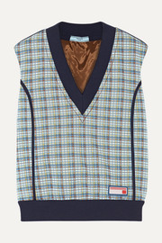 Prada Checked jacquard-knit sweater
