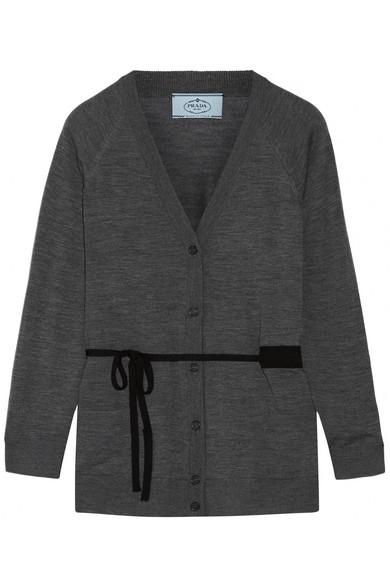 Prada | Belted wool cardigan | NET-A-PORTER.COM